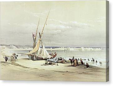 Tsur, Ancient Tyre, April 27th 1839 Canvas Print by David Roberts