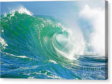 Tubing Wave Canvas Print by Paul Topp
