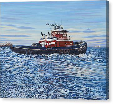 Tug Of The Ocean Canvas Print by Danielle  Perry