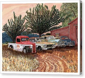 Tularosa Motors Canvas Print by Jack Pumphrey