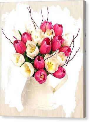 Tulip Blooms Canvas Print by Debra  Miller