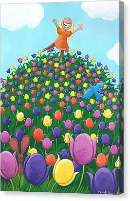 Tulip Time Painting Canvas Print by Christy Beckwith