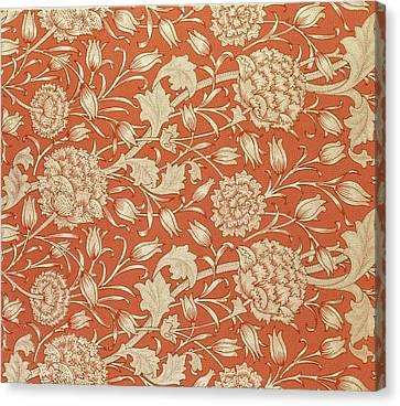 Tulip Wallpaper Design Canvas Print by William Morris