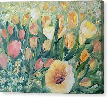 Tulips I Canvas Print by Joanne Smoley