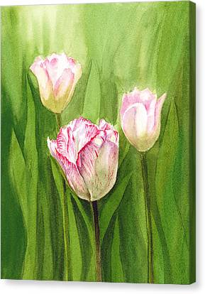 Tulips In The Fog Canvas Print by Irina Sztukowski