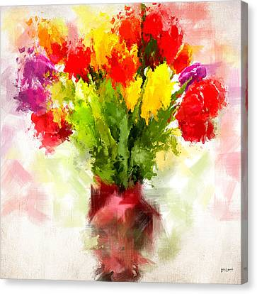 Tulips With Love Canvas Print by Lourry Legarde