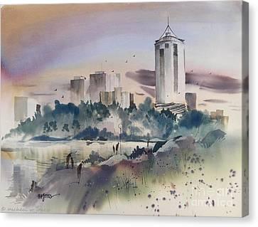Tulsa Skyline Canvas Print by Micheal Jones