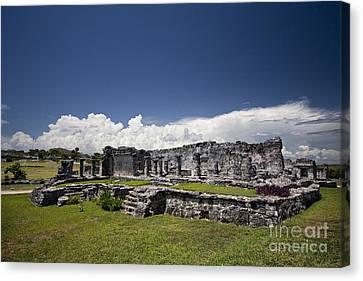 Tulum Mayan Ruins 16 Canvas Print by Mark Baker