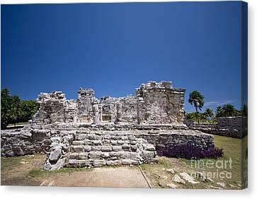 Tulum Mayan Ruins 20 Canvas Print by Mark Baker