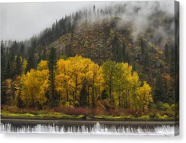 Tumwater Canyon Canvas Print by Mark Kiver