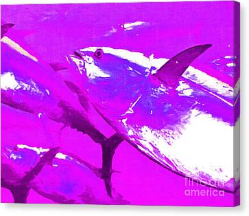 Tuna Fish M168 Canvas Print by Wingsdomain Art and Photography