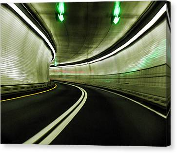Tunnel Canvas Print by Zina Stromberg