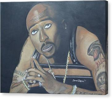 Tupac Canvas Print by Demitrius Roberts