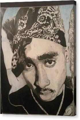 Tupac In Paradise Canvas Print by Demetrius Washington