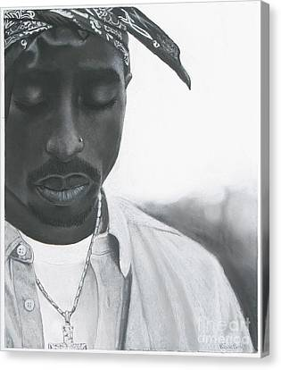 Tupac Shakur 2pac Canvas Print by Riane Cook