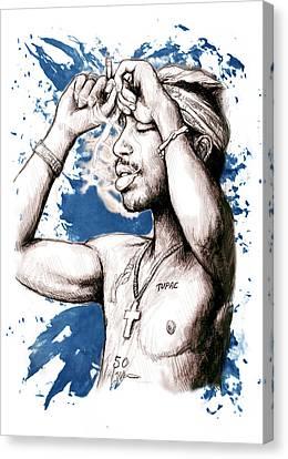 Tupac Shakur Morden Art Drawing Poster Canvas Print by Kim Wang