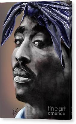 Tupac - The Tip Of The Iceberg  Canvas Print by Reggie Duffie