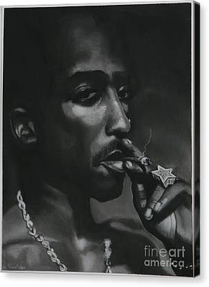 Tupac Thoughts Canvas Print by Riane Cook