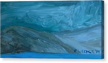 Turbulent Skies And A Glacier  Canvas Print by Carolina Liechtenstein