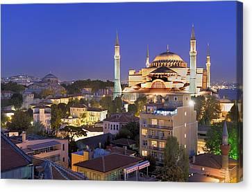 Turkey. Istanbul. Hagia Sophia Basilica Canvas Print by Everett