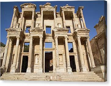 Turkey, Izmir, Kusadasi, Ephesus Canvas Print by Emily Wilson