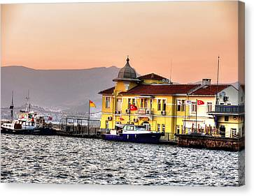 Turkish Water Police Station Canvas Print by Mark Alexander