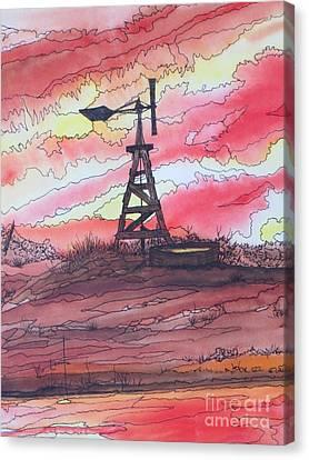 Turn Off The Windmill  Canvas Print by Lorita Montgomery
