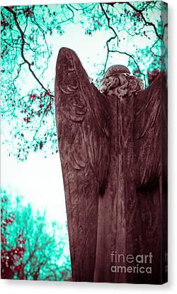 Turquoise Angel Canvas Print by Sonja Quintero