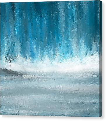 Turquoise Memories Canvas Print by Lourry Legarde