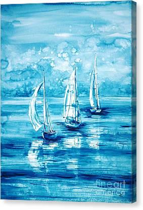 Turquoise Morning Canvas Print by Zaira Dzhaubaeva