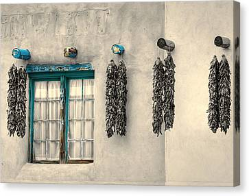 Turquoise Pueblo Traces Canvas Print by Stellina Giannitsi
