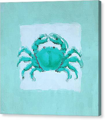 Turquoise Seashells I Canvas Print by Lourry Legarde