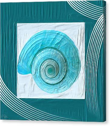Turquoise Seashells Xvii Canvas Print by Lourry Legarde