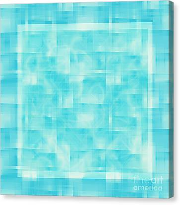 turquoise square 12-November-2012 Canvas Print by Igor Kislev
