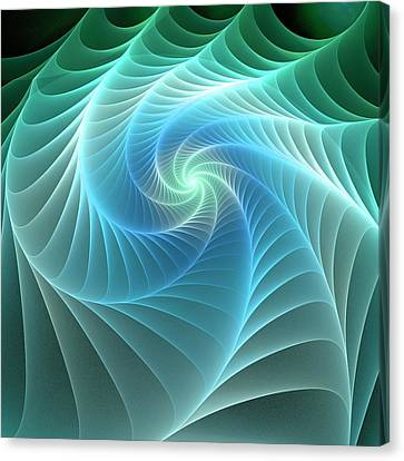 Turquoise Web Canvas Print by Anastasiya Malakhova