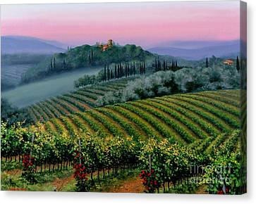 Tuscan Dusk Canvas Print by Michael Swanson