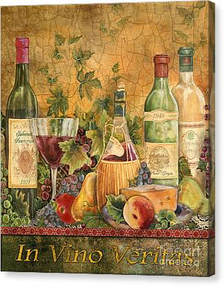 Tuscan In Vino Veritas Canvas Print by Jean Plout