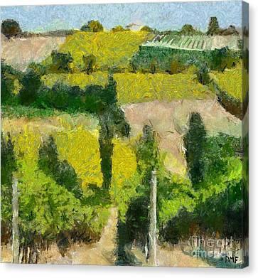 Tuscan Landscape Canvas Print by Dragica  Micki Fortuna