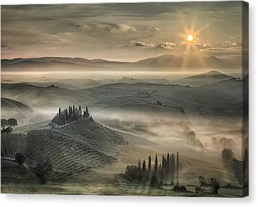 Tuscan Morning Canvas Print by Christian Schweiger