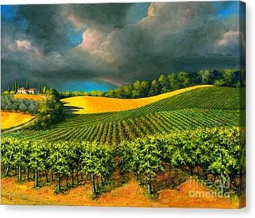 Tuscan Storm Canvas Print by Michael Swanson