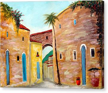Tuscan Street Canvas Print by Larry Cirigliano