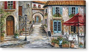 Tuscan Street Scene Canvas Print by Marilyn Dunlap