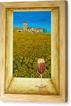 Tuscan View Canvas Print by Pamela Allegretto