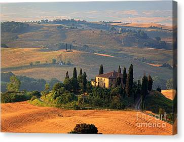 Tuscan Villa Canvas Print by Inge Johnsson