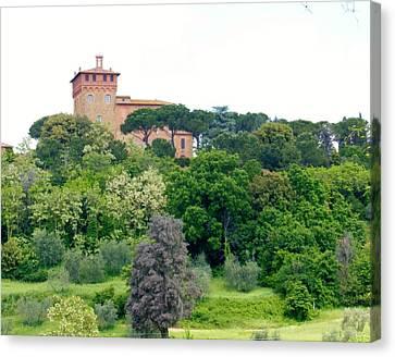 Tuscan Villa Canvas Print by Marilyn Dunlap