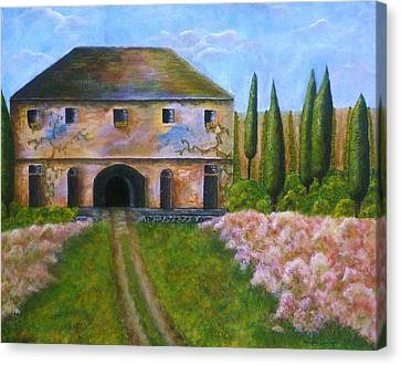 Tuscan Villa Canvas Print by Tamyra Crossley