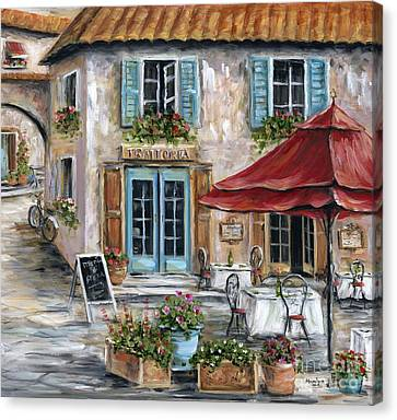 Tuscan Trattoria Canvas Print by Marilyn Dunlap