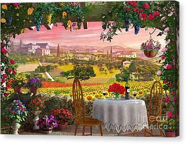 Tuscany Hills Canvas Print by Dominic Davison
