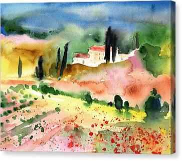 Tuscany Landscape 02 Canvas Print by Miki De Goodaboom