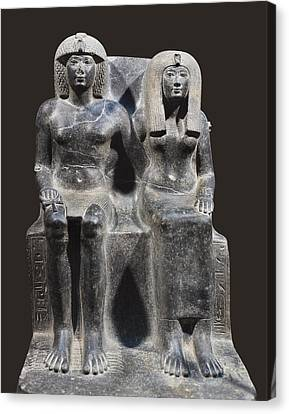 Tuthmosis Iv And His Mother Tiy. 1401 Canvas Print by Everett